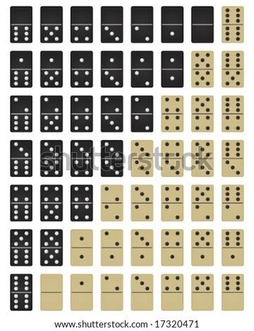 dominoes - stock vector