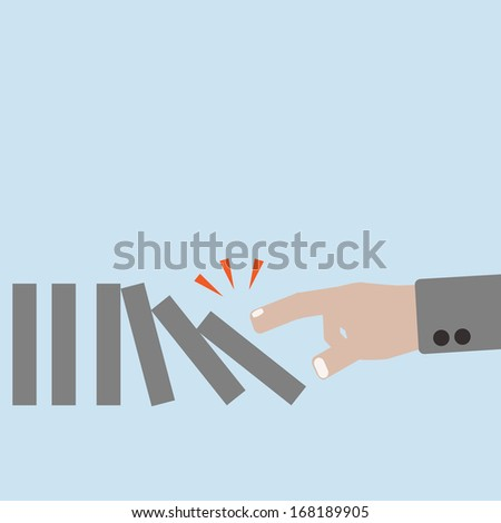 Dominoes effect concept - stock vector