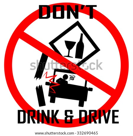 dont drink drive concept sign vector stock vector. Black Bedroom Furniture Sets. Home Design Ideas