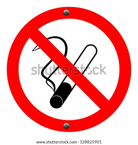 don't smoke sign. vector illustration eps 10 - stock vector