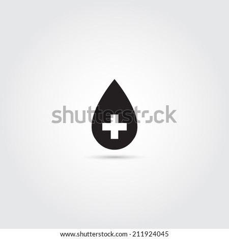 Donate blood icon - Vector - stock vector