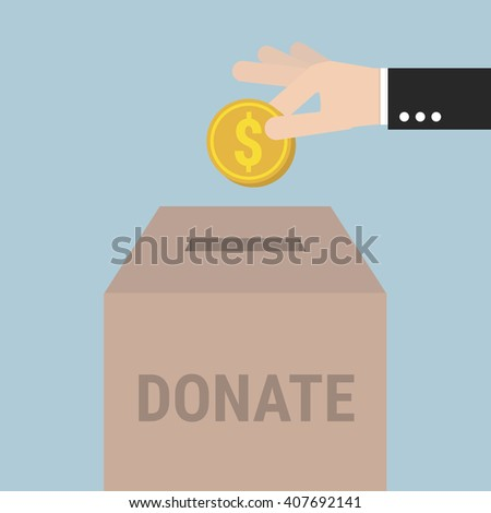 Donate Money, Charity Concept