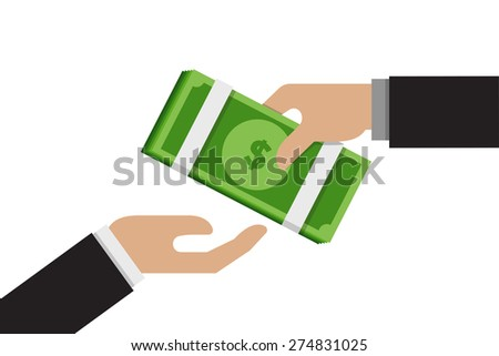 Donation - stock vector