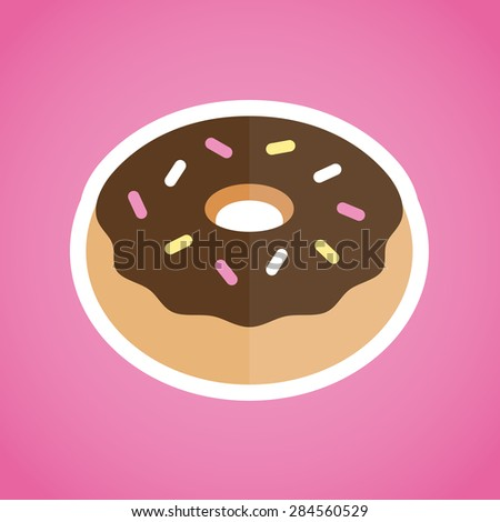 Donut graphic illustration flat vector icon design - stock vector