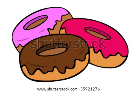 Donuts. - stock vector