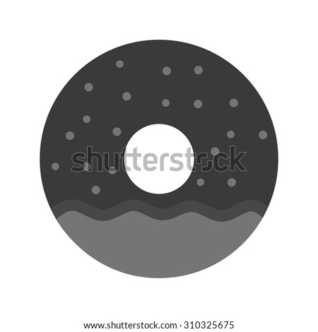 Donuts, food, sprinkles icon vector image. Can also be used for sweets and confectionery. Suitable for use on web apps, mobile apps and print media.
