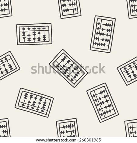 doodle abacus seamless pattern background