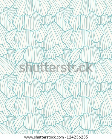 Doodle abstract frills seamless pattern. - stock vector