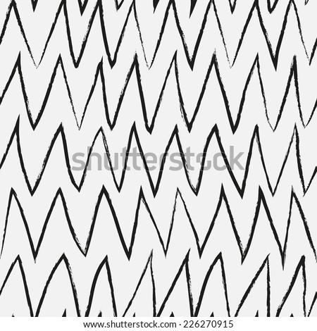 Doodle abstract pattern. Black and white colors. Seamless pattern can be used for wallpaper, pattern fills, web page background,surface textures. - stock vector