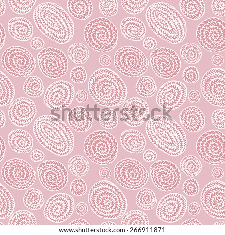 Doodle abstract round seamless pattern - stock vector