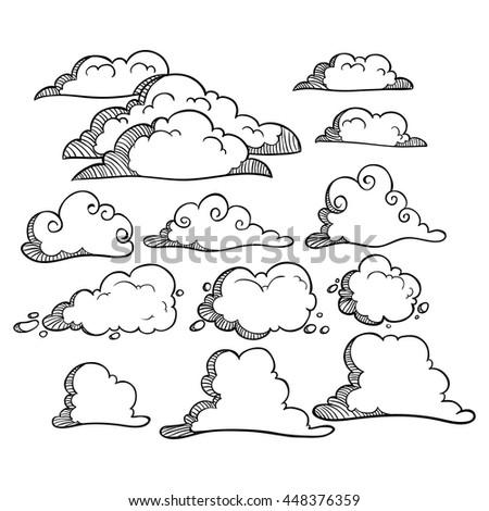 cumulus cloud coloring pages - photo#5