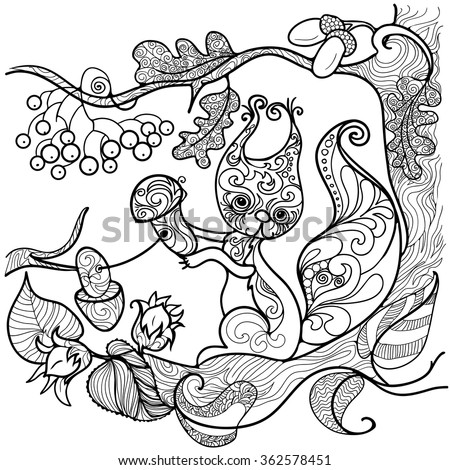 Doodle Background Coloring Pages Adults Stock Vector 362578451 ...