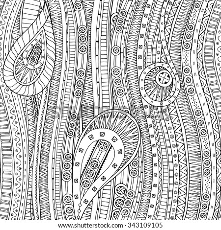Doodle Background In Vector With Doodles And Ethnic Pattern Can Be Used