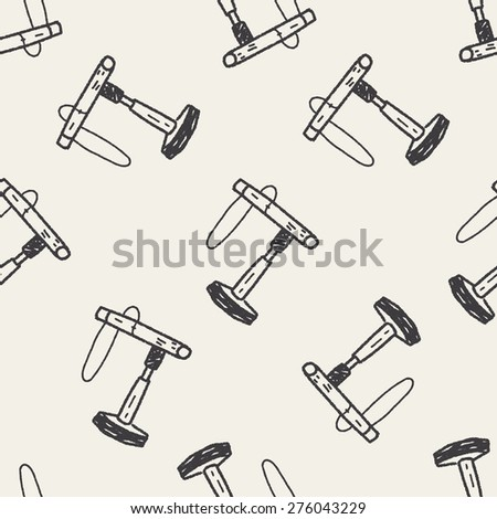 doodle bird house seamless pattern background - stock vector