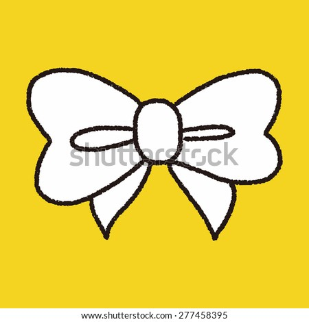 doodle bow - stock vector
