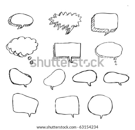 Doodle Bubble Talk - stock vector