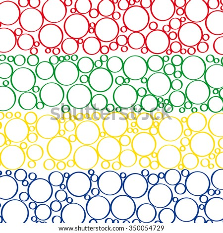 Doodle bubbles of different shades and the different size on a white background.