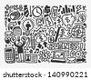 doodle business element - stock vector
