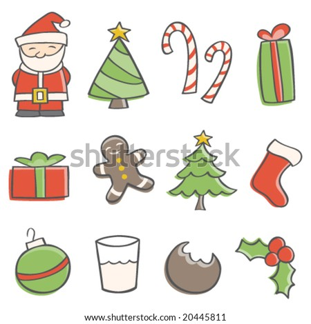 Doodle Christmas Elements - stock vector