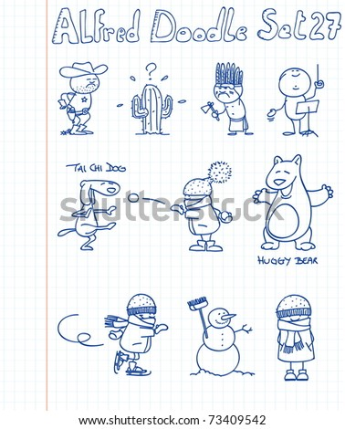 Doodle collection 27 - stock vector