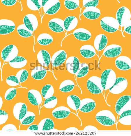 Doodle colorful floral seamless pattern - stock vector