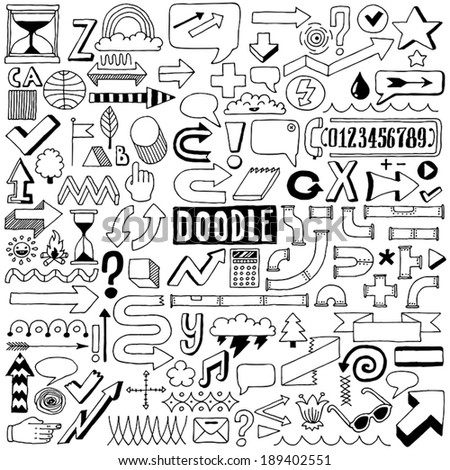 Doodle design elements. Vector illustration.