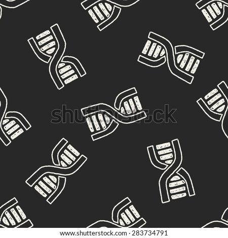 doodle dna seamless pattern background