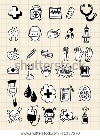 doodle doctor element,hand draw - stock vector