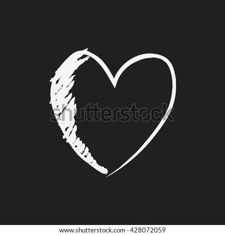 doodle drawing heart - stock vector