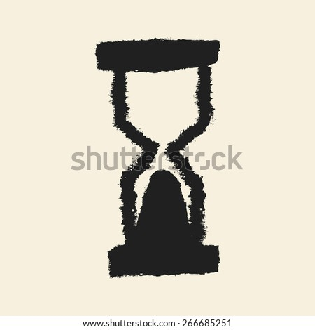 doodle drawing watch - stock vector