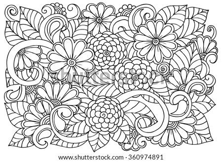 zen doodle coloring pages flower - photo#9