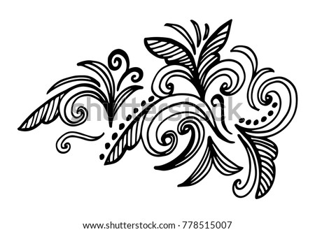 Doodle Floral Pattern Page For Coloring Book Very Interesting And Relaxing Job Children