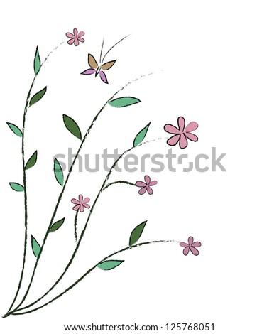 Doodle flower - stock vector