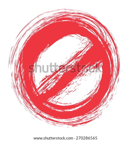 Doodle forbidden sign isolated on the white - stock vector