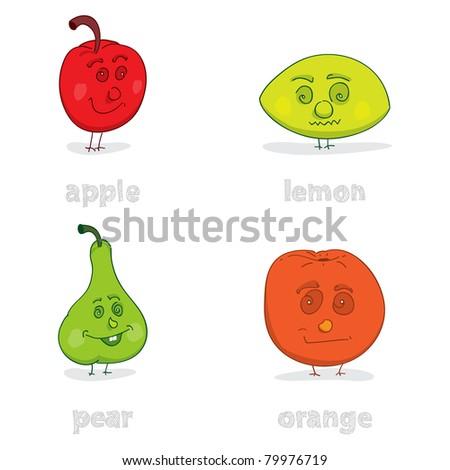 Doodle Fruit - stock vector