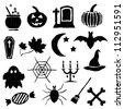 doodle halloween images - stock vector
