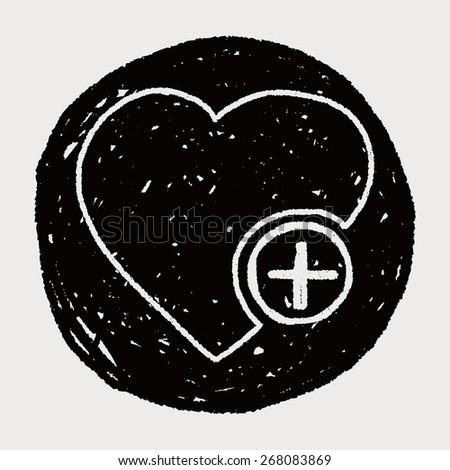 Doodle Heart - stock vector