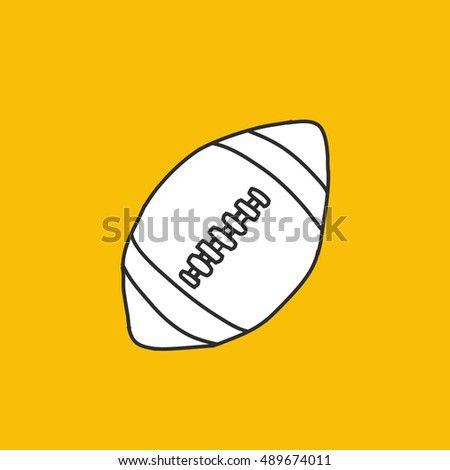 doodle icon. American football ball. vector illustration