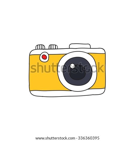doodle icon. camera. vector illustration - stock vector