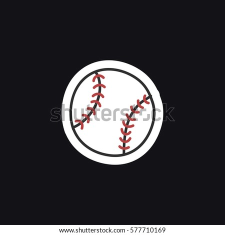 doodle icon, sticker. baseball. vector illustration