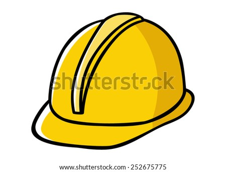 Doodle illustration of a construction worker hard hat - stock vector