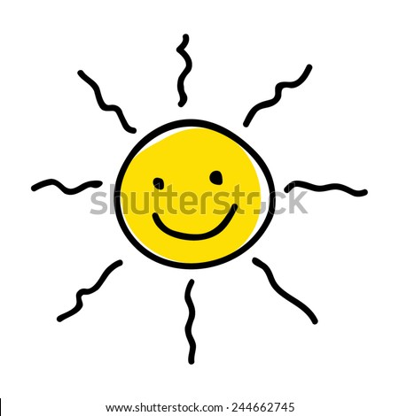 Doodle illustration of a sun - stock vector