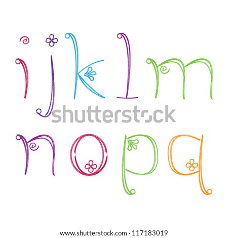 Doodle Letters Alphabet - Matching Letters and Numbers in Portfolio