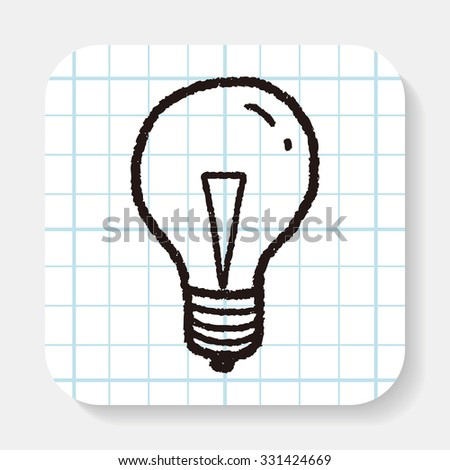 Doodle Light bulb - stock vector