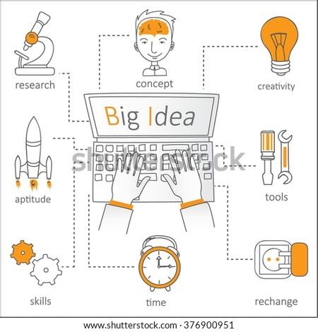 Doodle Line Design Web Banner Templates Stock Vector 376900951 ...