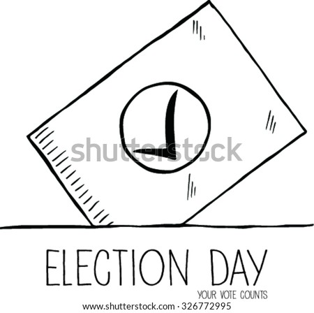 Doodle of Vote election day, vector illustration - stock vector