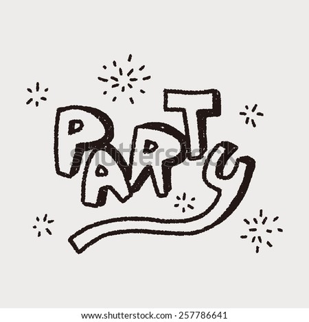 doodle party - stock vector
