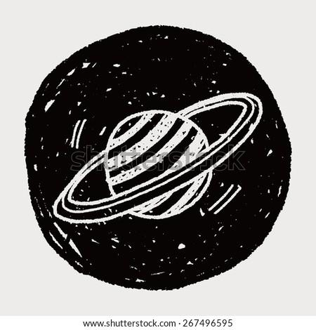 Doodle Planet - stock vector