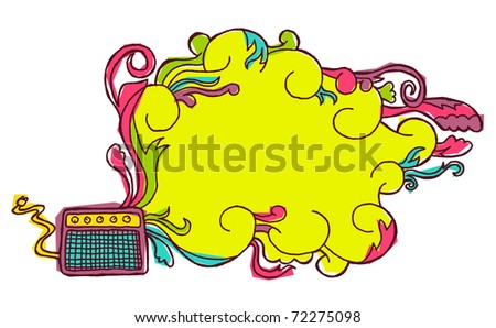 doodle rock poster background #2 - stock vector
