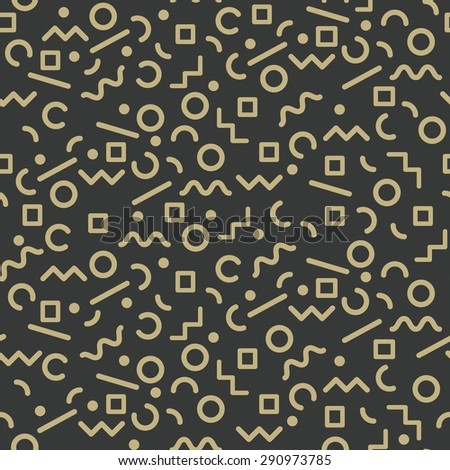 doodle seamless pattern dark and gold,abstract background